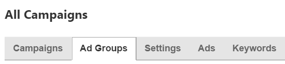 bing ad groups